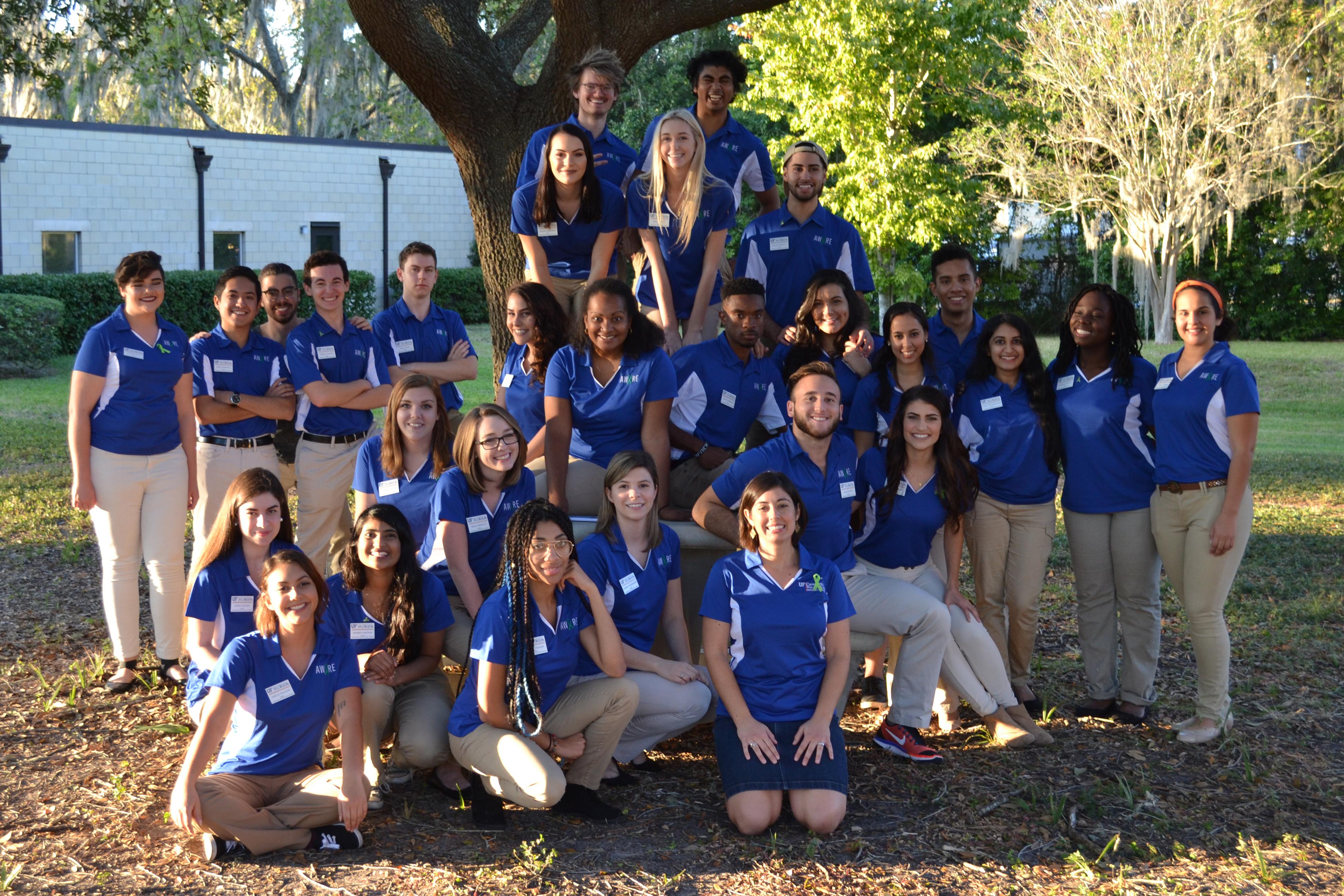 group photo of 2016-17 aware ambassadors
