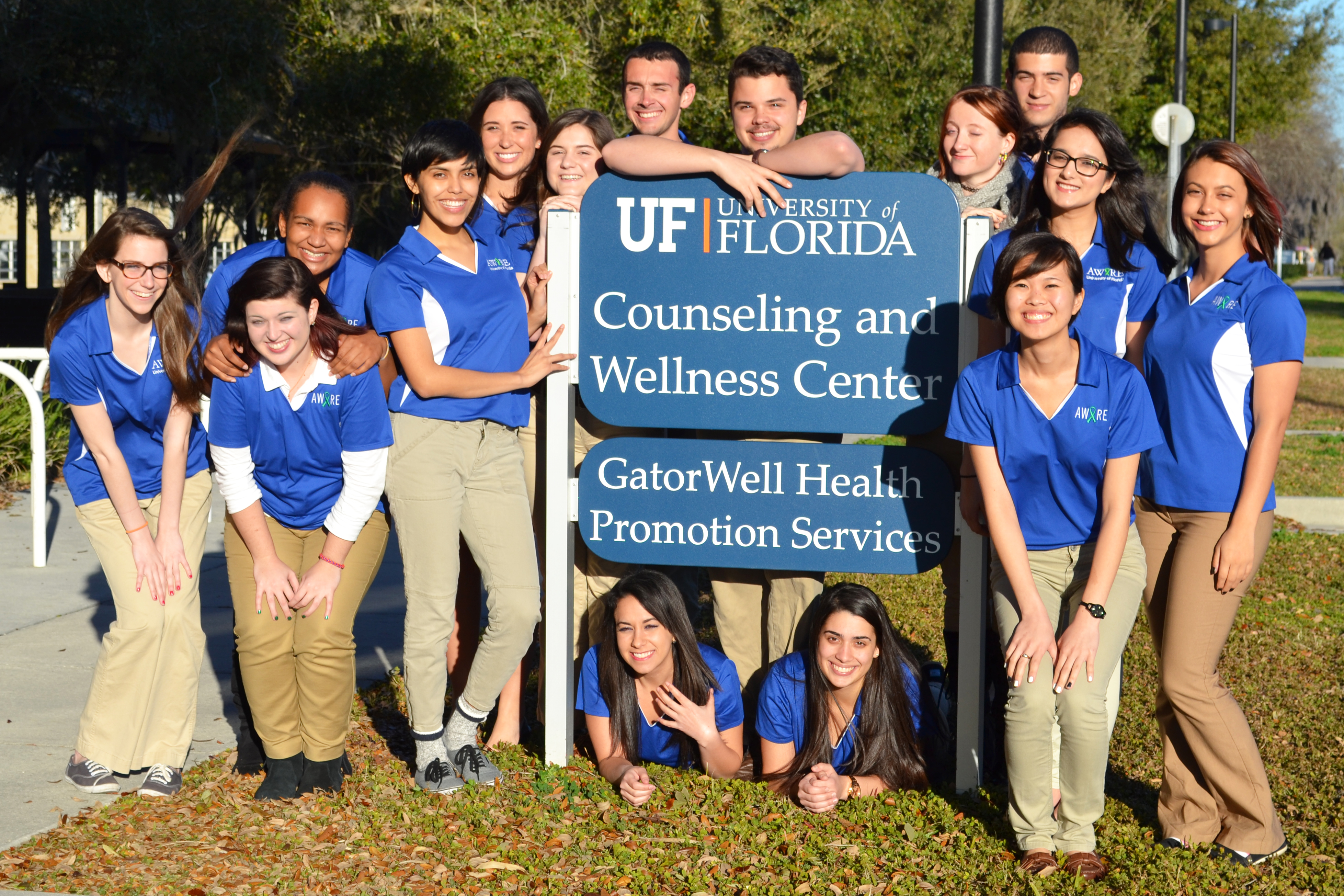 group photo of 2014-15 aware ambassadors